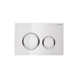 Geberit Sigma21 White Glass Dual Flush Plate - 115.884.SI.1